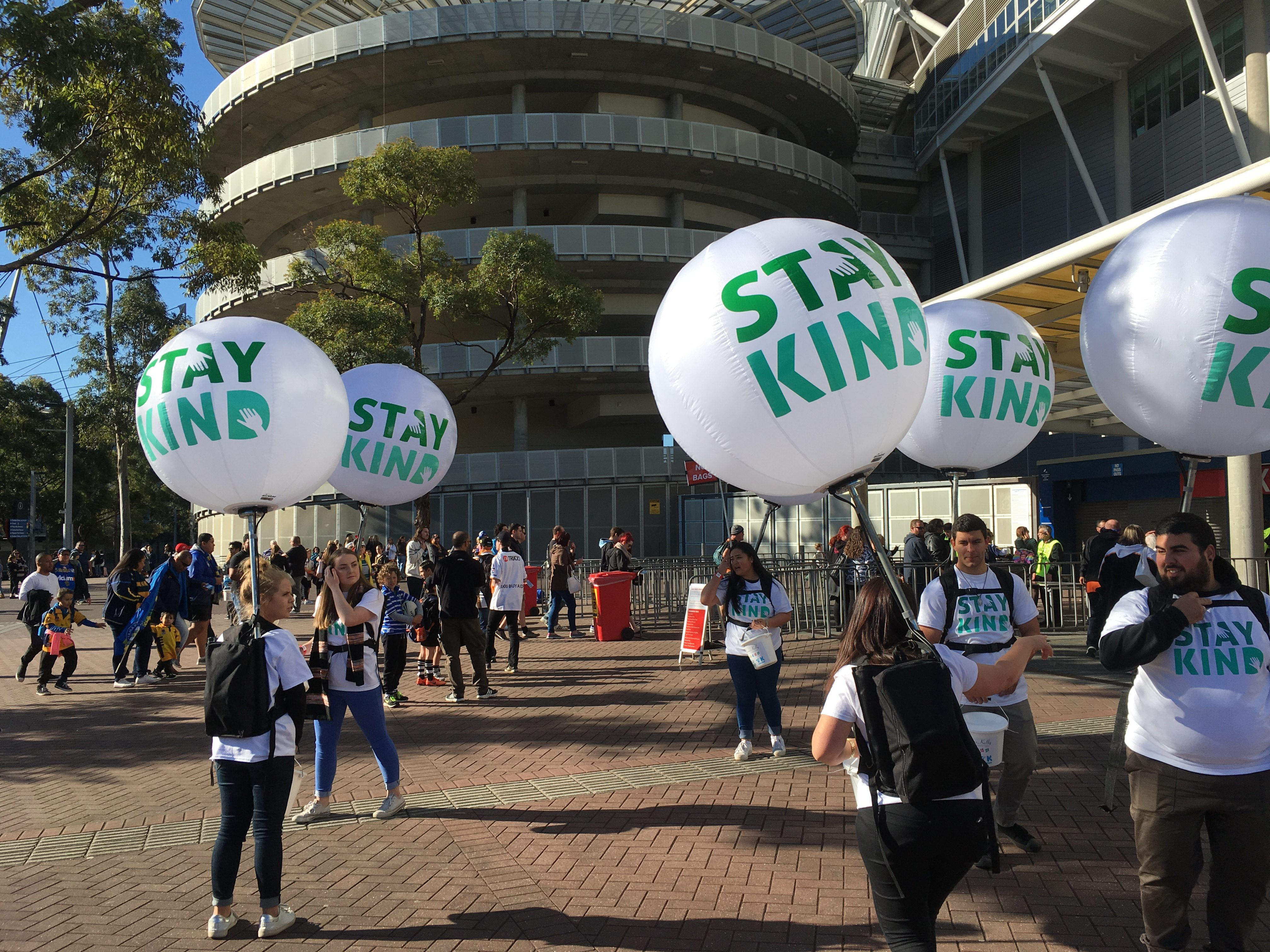 Stay Kind Day balloons