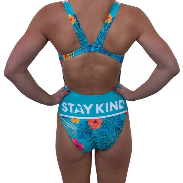 Budgy Smuggler Women's Swimwear Thick Strap x Stay Kind - Back
